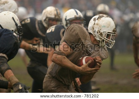 High School football. Editorial use only. - stock photo