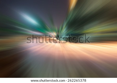 High speed and blurred motion - stock photo