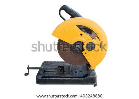 high speed cut off machine isolated on white background