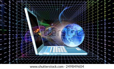 High Speed Internet technology - stock photo