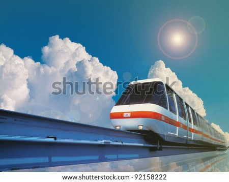 High Speed Monorail Train - stock photo
