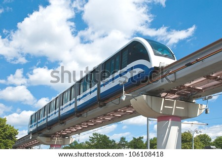 High Speed Monorail Train, Moscow, Russia. - stock photo