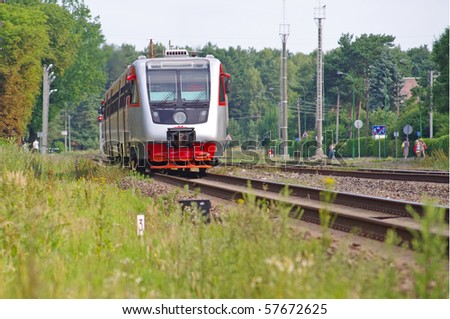 High speed passenger train - stock photo