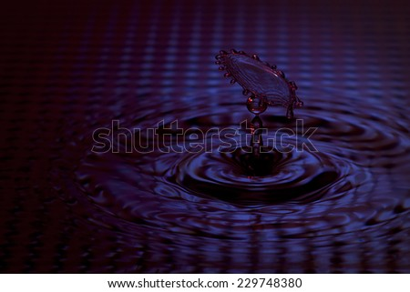 high speed photographs showing movement of water drop shaped figure of a woman with umbrella