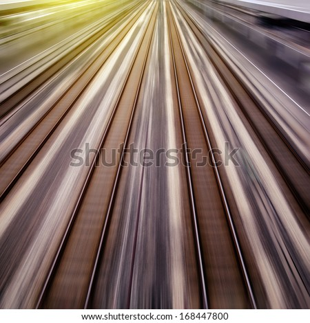 High-speed rail transport - stock photo