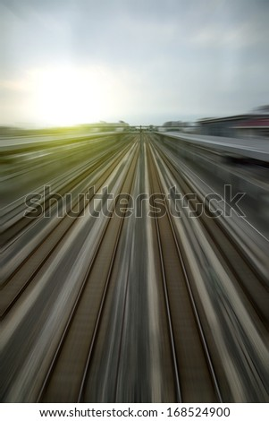High-speed rail transport - stock photo