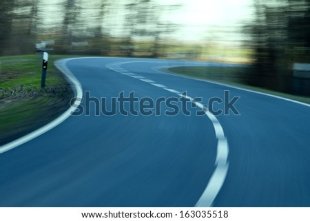 High Speed Road Background - stock photo