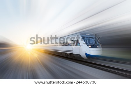 high speed train  - stock photo