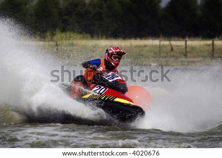 High-speed water jetski2 - stock photo