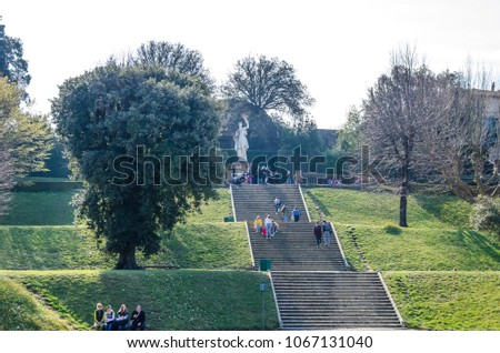 High Stair Boboli Gardens Florence March Stock Photo (Safe to Use ...