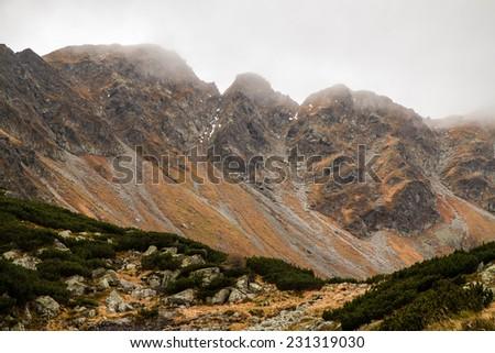 High Tatras autumn mountains - stock photo