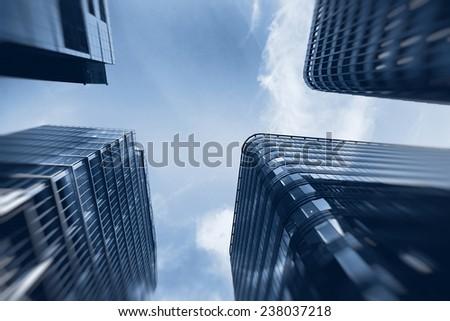 high tech business buildings  - stock photo
