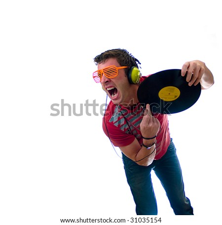 High tech disco DJ track - stock photo