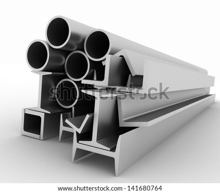 High technology background - profiles - stock photo