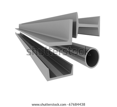 High technology background - steel profiles