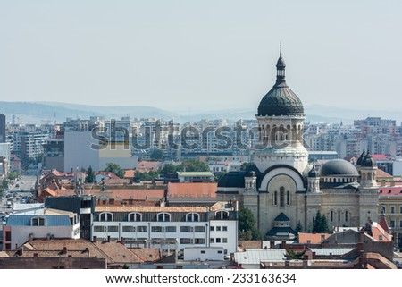 High View Of Cluj Napoca City In Romania