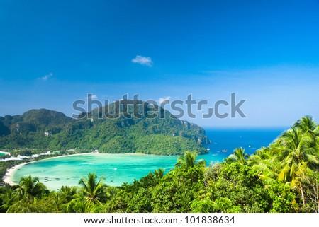 High Viewpoint Palm Island - stock photo