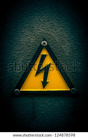 High voltage - stock photo