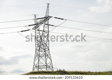 high voltage - stock photo