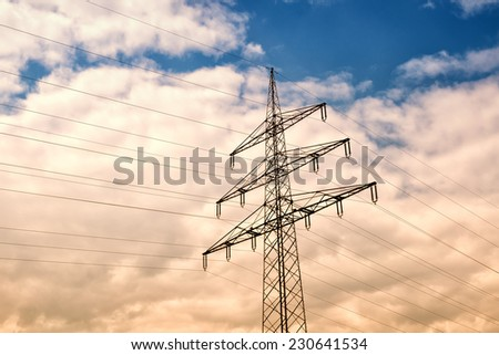 high voltage and sky
