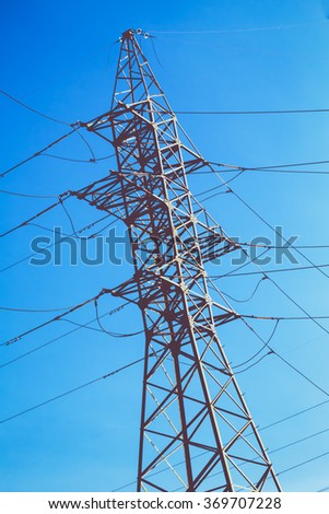 High voltage electric power - stock photo
