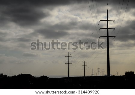 High Voltage Electric Transmission Tower Energy Pylon