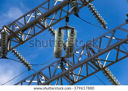 High-voltage electrical insulator electric line