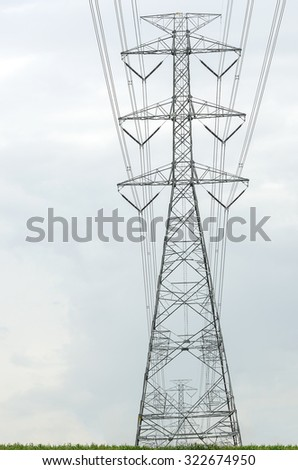 High voltage electrical pole structure.