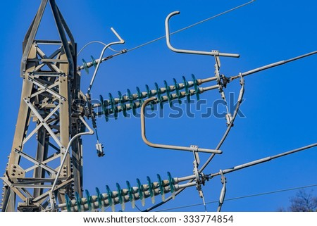 High voltage electrical tower - stock photo