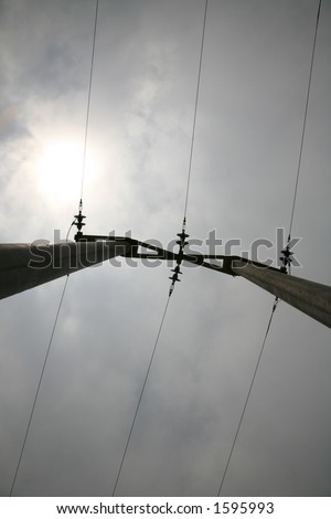 high voltage electricity pylon