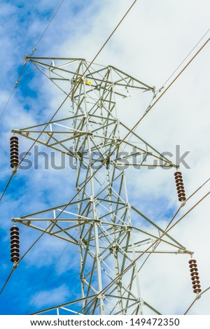 High voltage Pole in Nongbualumphoo, Thailand