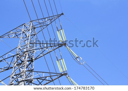 High voltage post. - stock photo