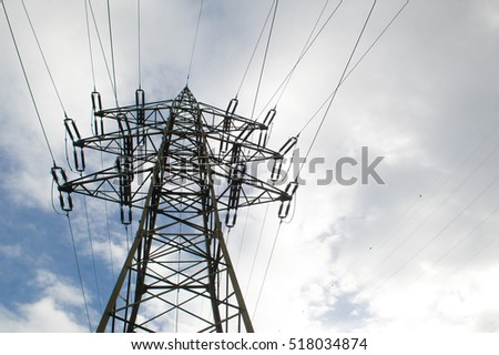 high voltage Post or electricity Pylon