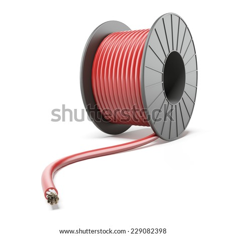 High-voltage Power Cable - stock photo