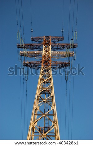 high voltage power line pylon