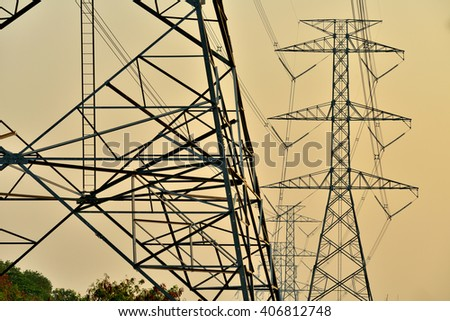 High voltage power line structure