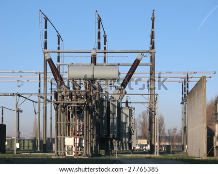 High voltage power plant detail