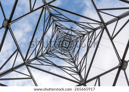 High Voltage Power Pole against the sky