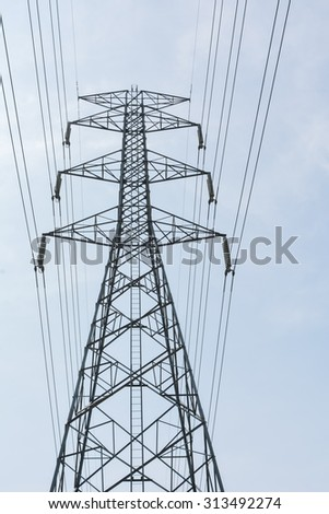 High voltage power pole. Lead to prosperity.