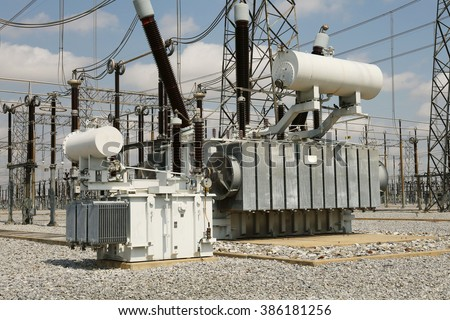High voltage power transformer substation stock photo for Substation pdf