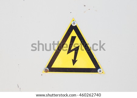 High Voltage Sign. Danger symbol. Warning icon