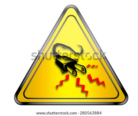 High voltage warning sign. - stock photo