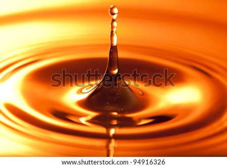 High water cup, made of droplets which is an inflammation of the fluid. - stock photo