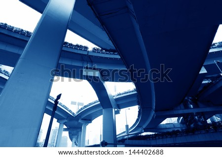 high way bridge - stock photo