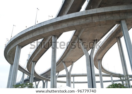 high way bridge - stock photo