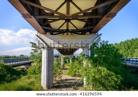 High way from under - stock photo