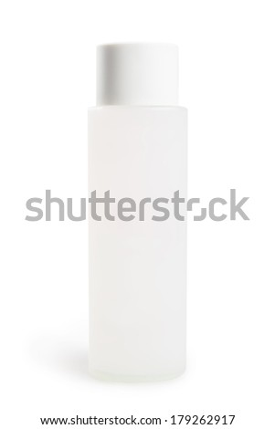 high white bottle with an oval lid on white background with clipping path