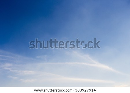 High white  wispy cirrus clouds  in blue Australian sky  sometimes called mare's tails  indicate fine weather  now but  stormy  changes coming within a couple of days.