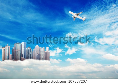 Higher than the clouds of skyscrapers, exaggerated performance