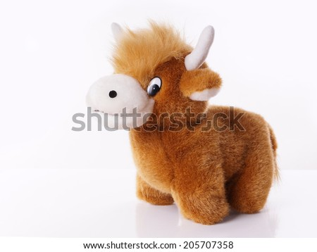 highland cattle as stuffed animal  - stock photo